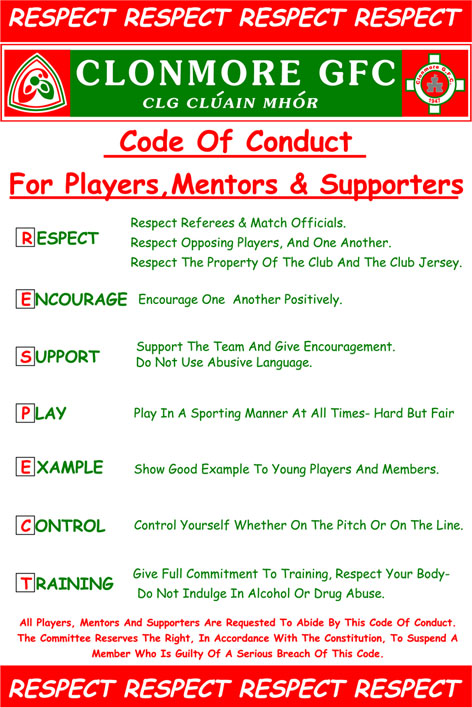 Clonmore GFC Code of Conduct